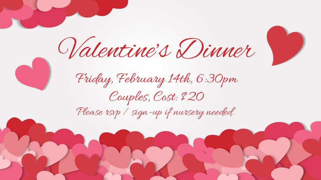 Couples Valentines Dinner 2020
